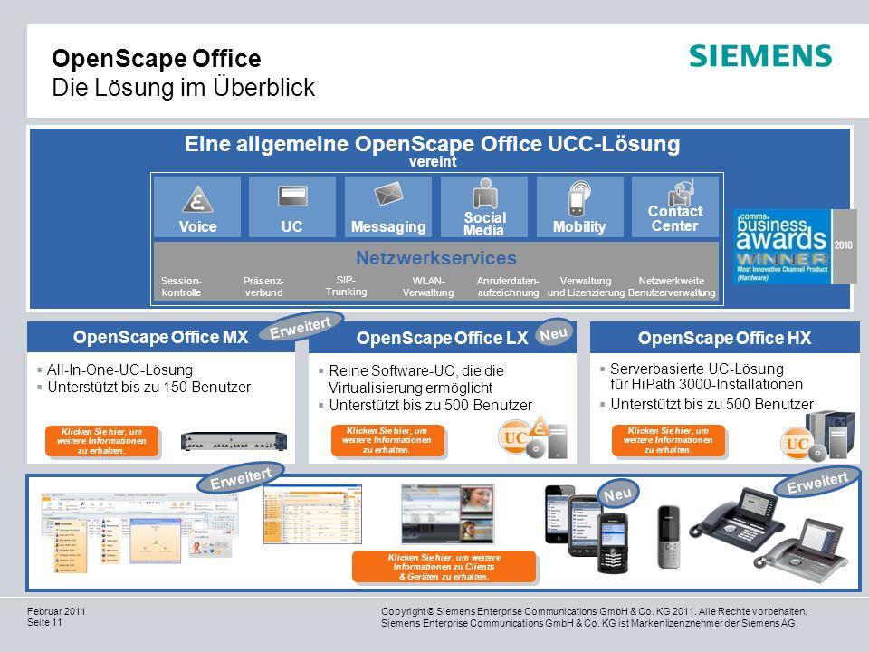 OpenScape Office Die Lösung im Überblick
