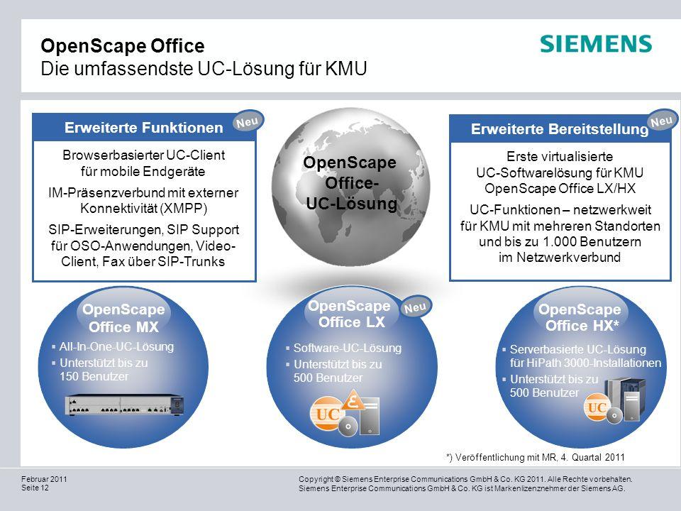 OpenScape Office Die umfassendste UC-Lösung für KMU