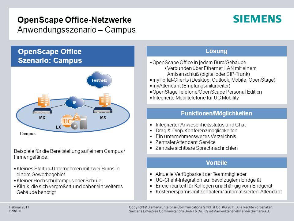 OpenScape Office-Netzwerke Anwendungsszenario – Campus