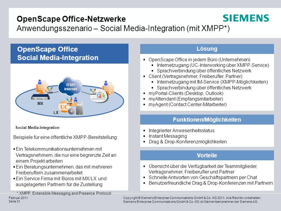 Funktionen/Möglichkeiten Social Media-Integration
