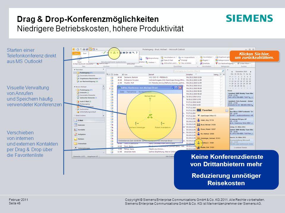 Drag & Drop-Konferenzmöglichkeiten Niedrigere Betriebskosten, höhere Produktivität