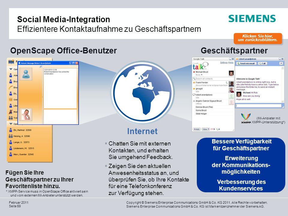 OpenScape Office-Benutzer Geschäftspartner Internet