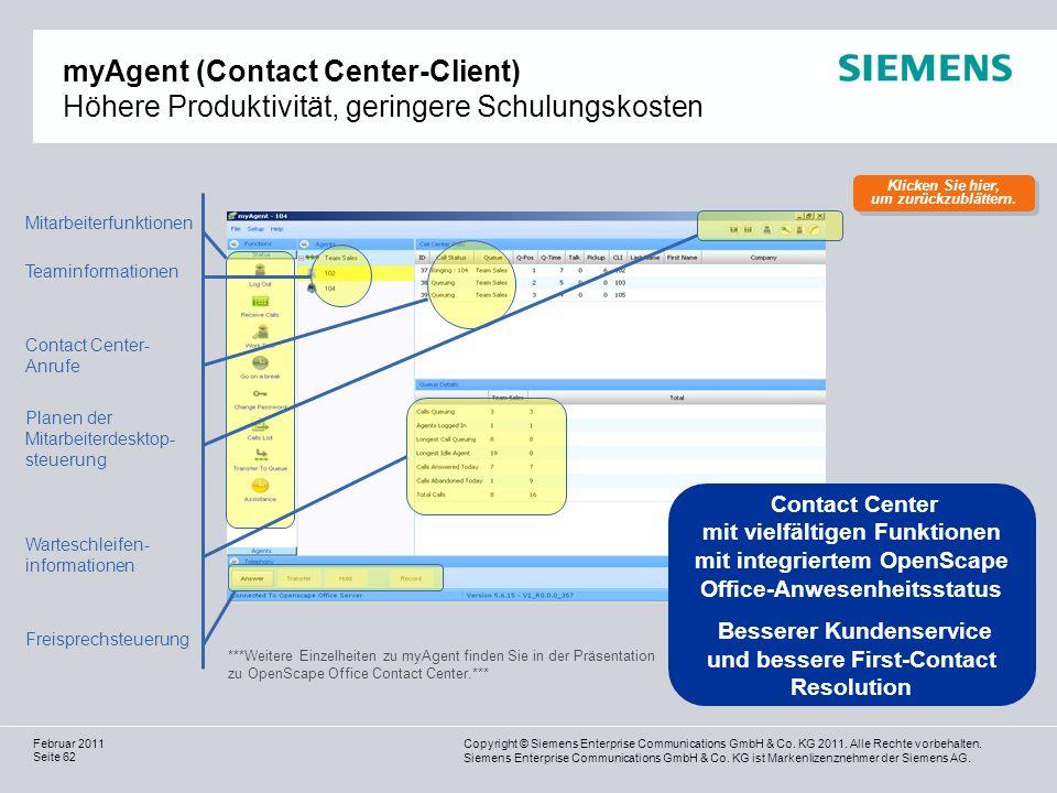 myAgent (Contact Center-Client) Höhere Produktivität, geringere Schulungskosten