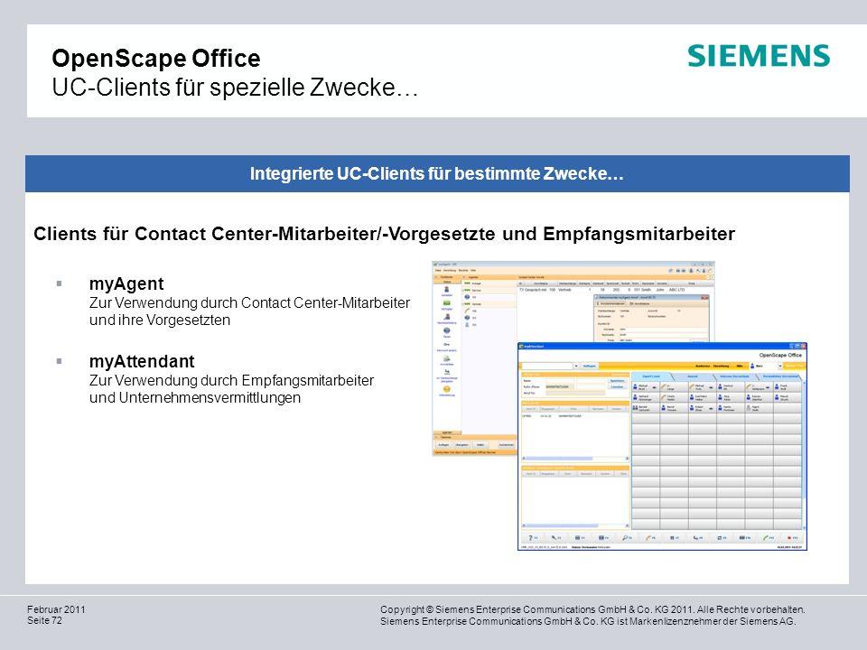 OpenScape Office UC-Clients für spezielle Zwecke…