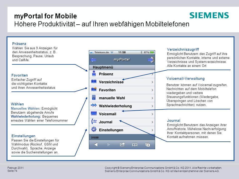 myPortal for Mobile Höhere Produktivität – auf Ihren webfähigen Mobiltelefonen