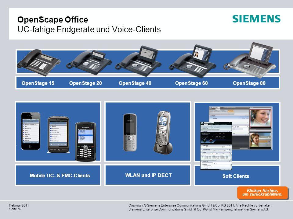 OpenScape Office UC-fähige Endgeräte und Voice-Clients