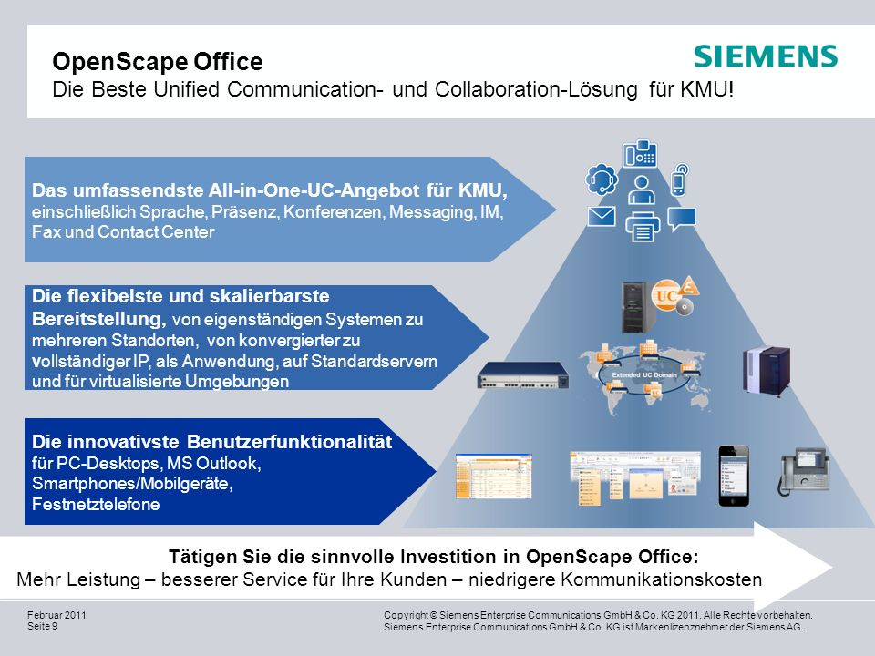 OpenScape Office Die Beste Unified Communication- und Collaboration-Lösung für KMU!