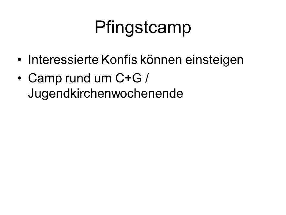 Pfingstcamp Interessierte Konfis können einsteigen