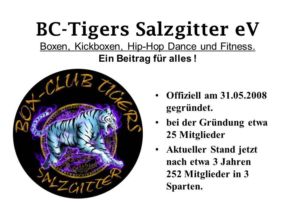 BC-Tigers Salzgitter eV Boxen, Kickboxen, Hip-Hop Dance und Fitness