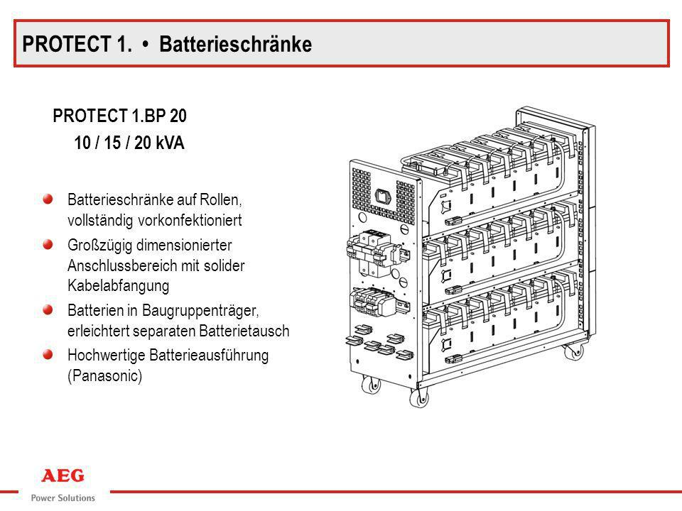 PROTECT 1. • Batterieschränke