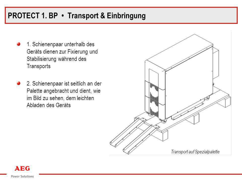 PROTECT 1. BP • Transport & Einbringung