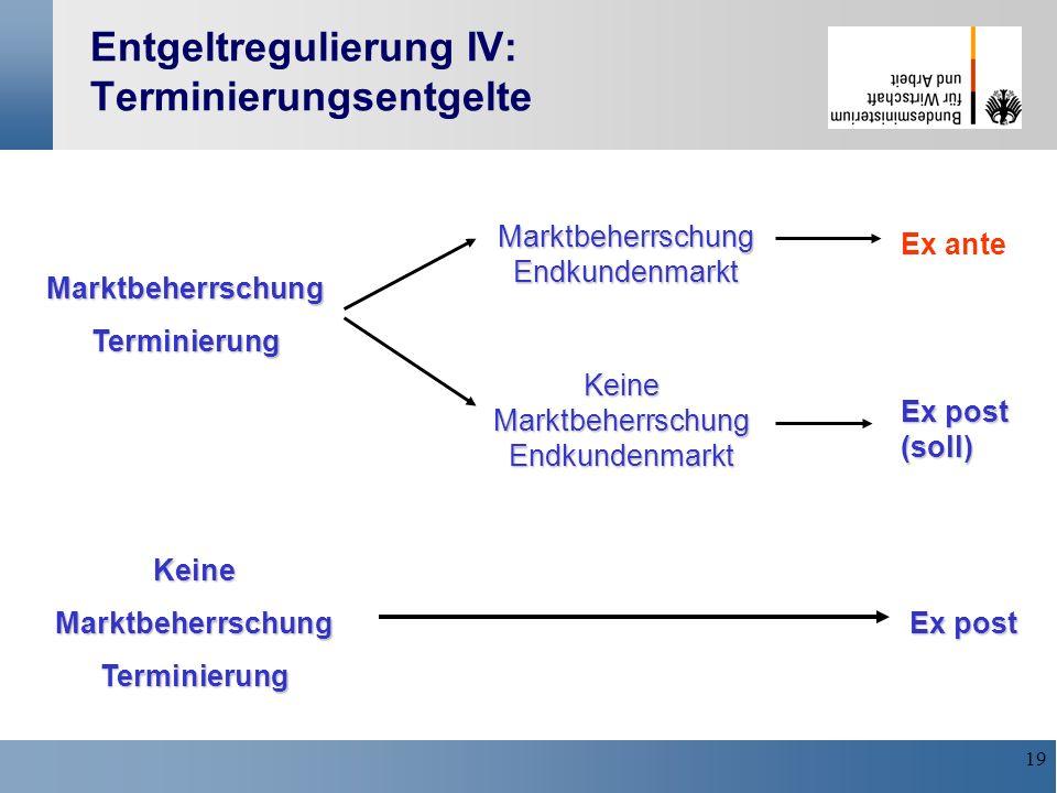 Entgeltregulierung IV: Terminierungsentgelte