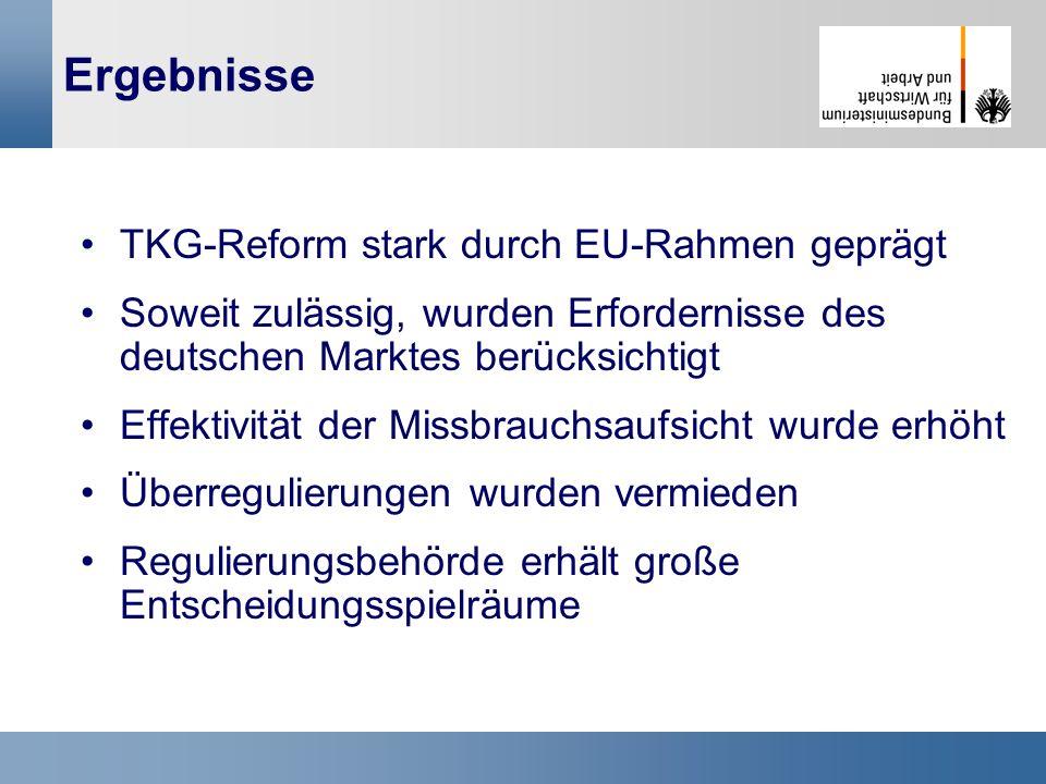 Ergebnisse TKG-Reform stark durch EU-Rahmen geprägt