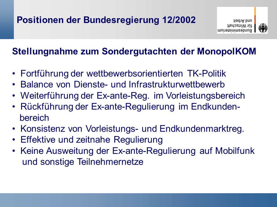 Positionen der Bundesregierung 12/2002