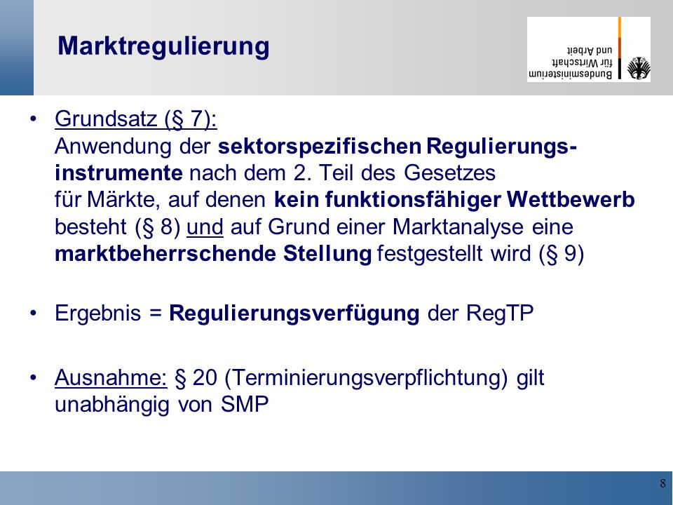 Marktregulierung