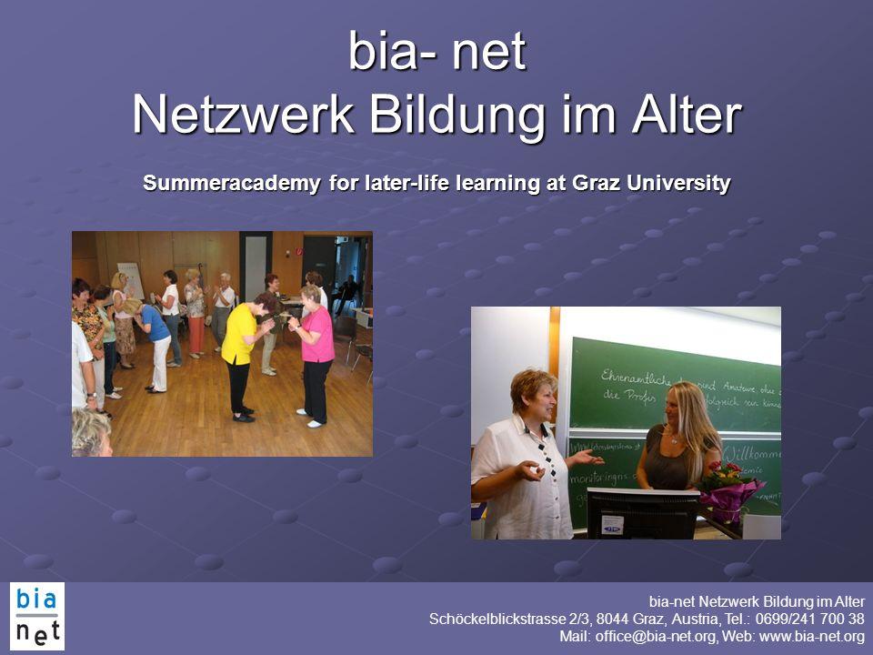 bia- net Netzwerk Bildung im Alter