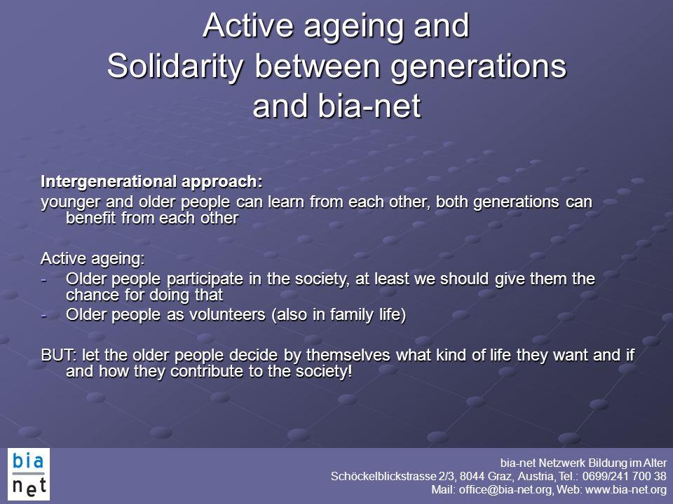 Solidarity between generations