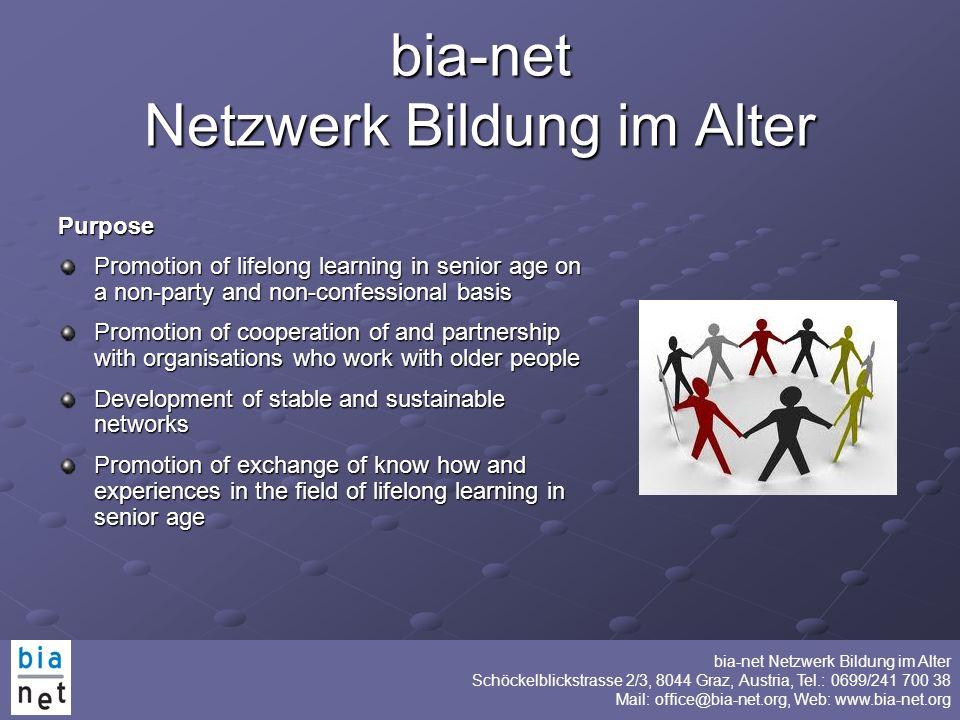 bia-net Netzwerk Bildung im Alter