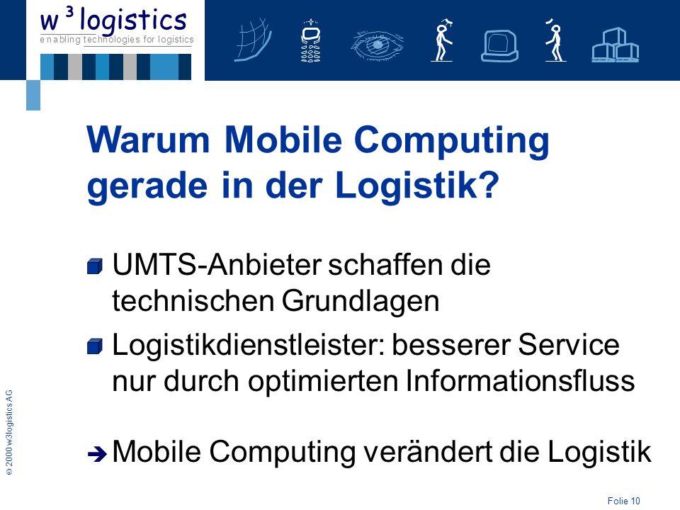 Warum Mobile Computing gerade in der Logistik