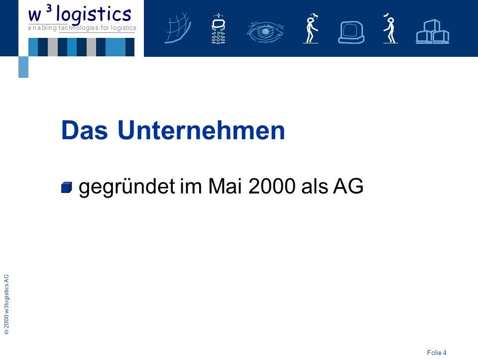 Das Unternehmen gegründet im Mai 2000 als AG