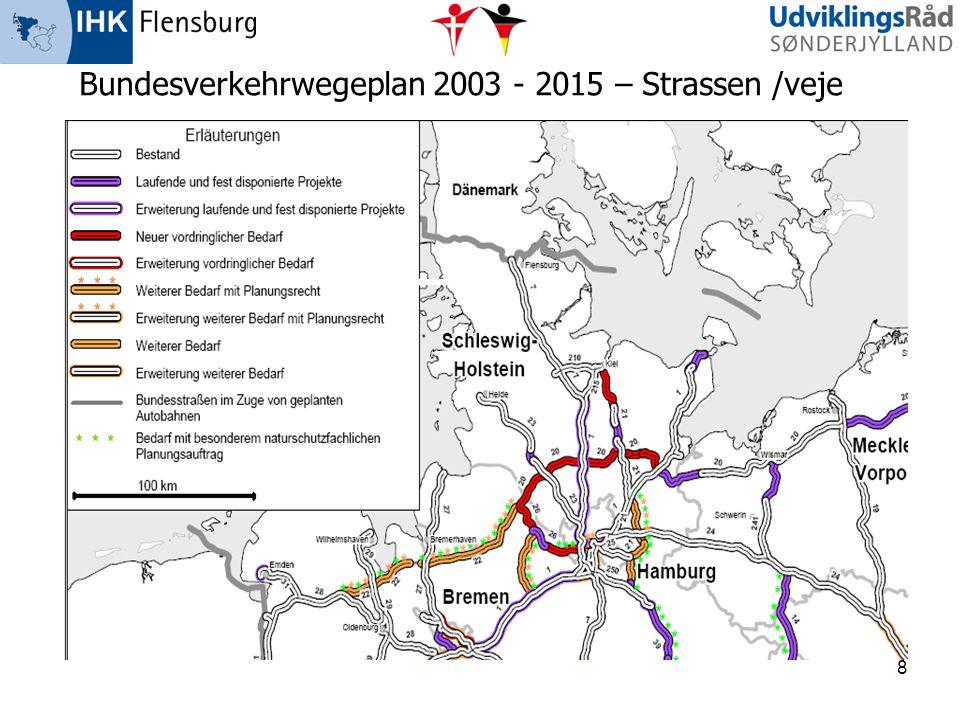 Bundesverkehrwegeplan 2003 - 2015 – Strassen /veje