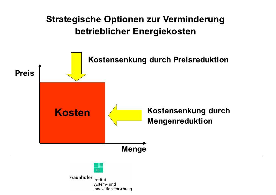 Strategische Optionen zur Verminderung betrieblicher Energiekosten