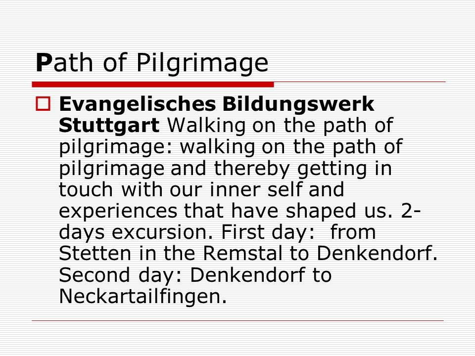 Path of Pilgrimage