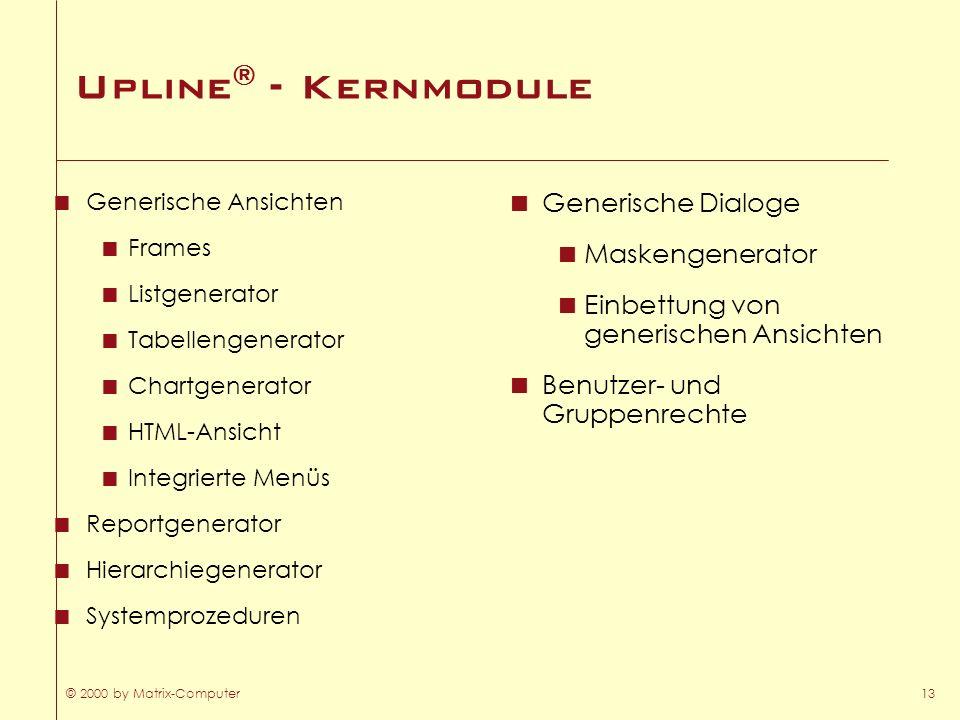 Upline® - Kernmodule Generische Dialoge Maskengenerator