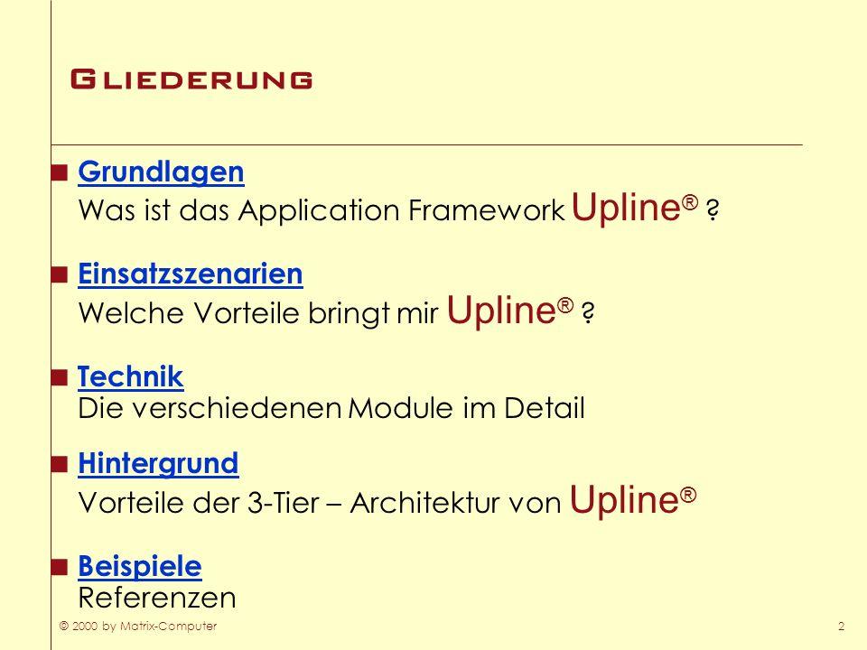 Gliederung Grundlagen Was ist das Application Framework Upline®