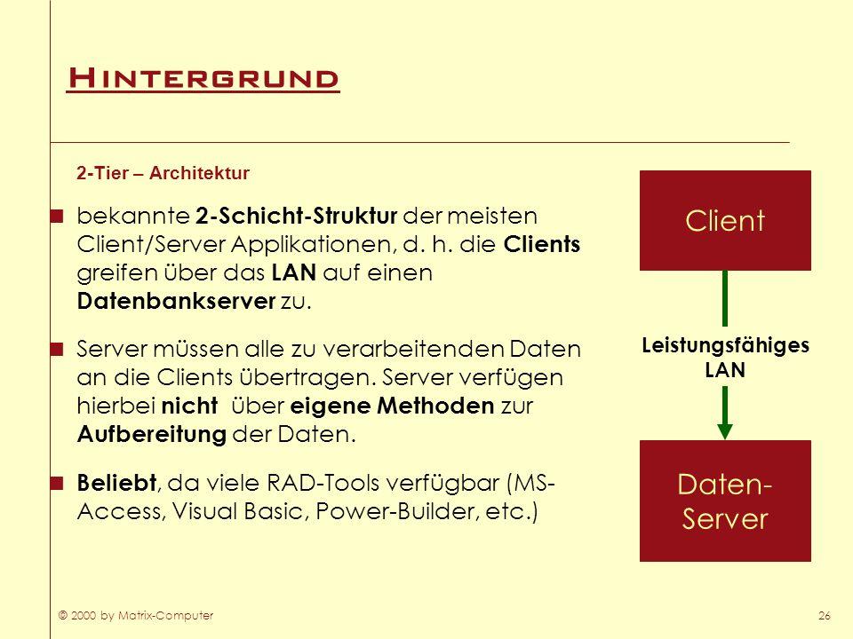 Hintergrund Client Daten- Server