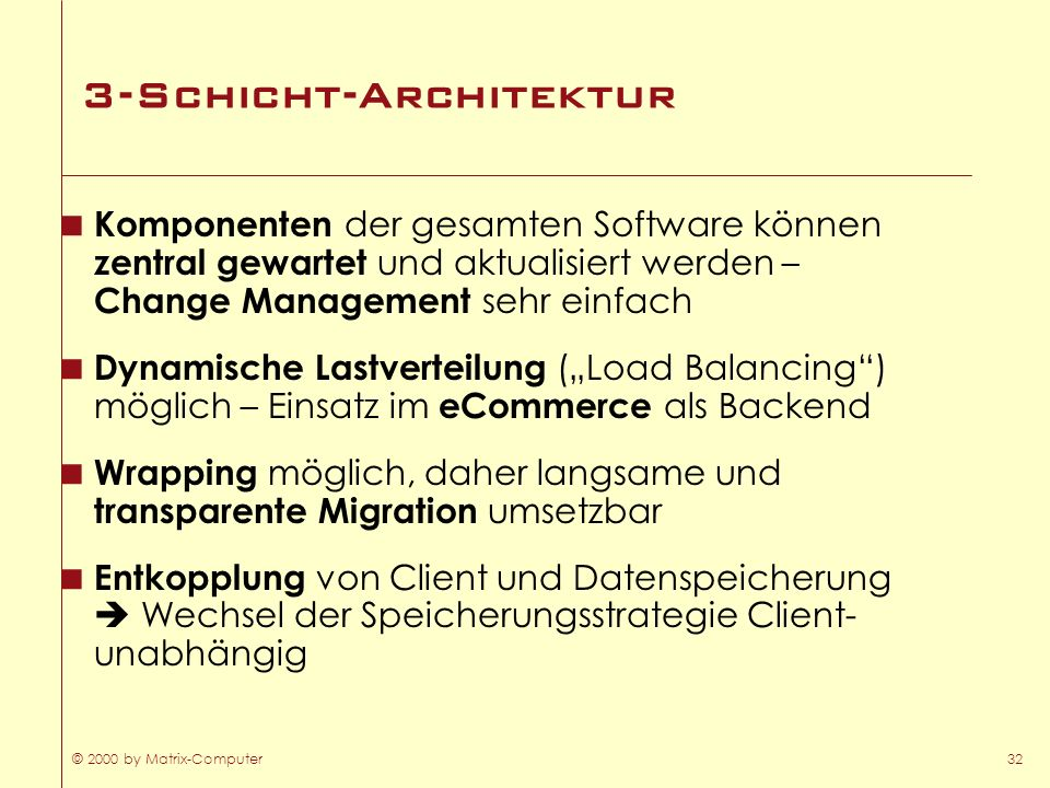3-Schicht-Architektur