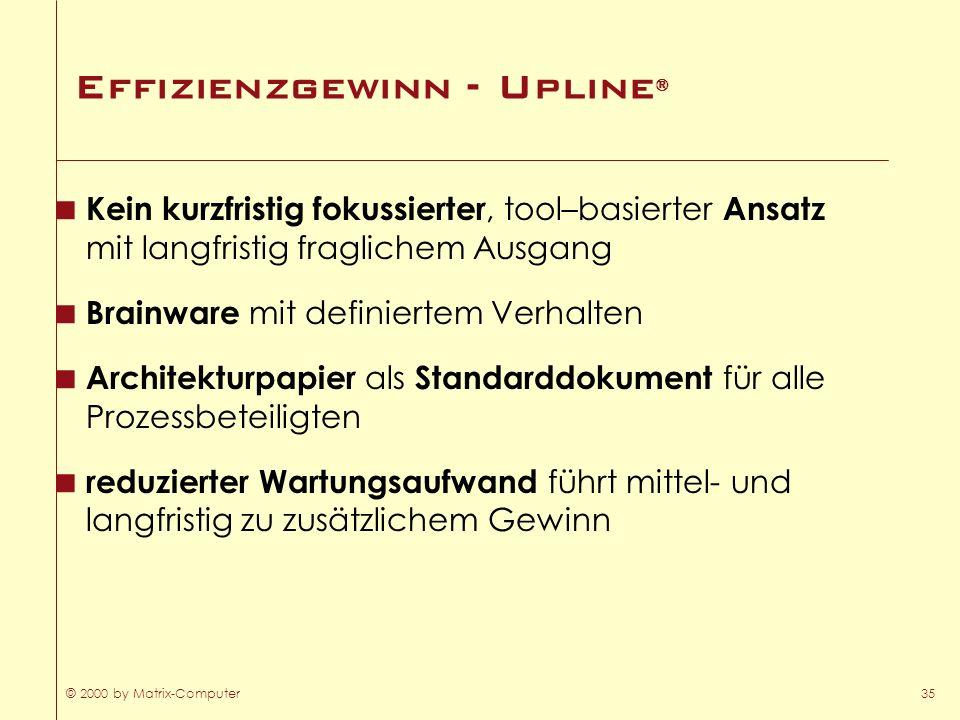Effizienzgewinn - Upline®