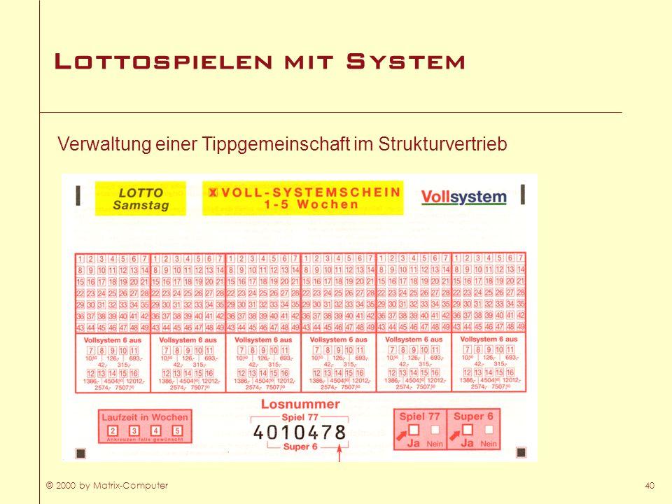 Lottospielen mit System
