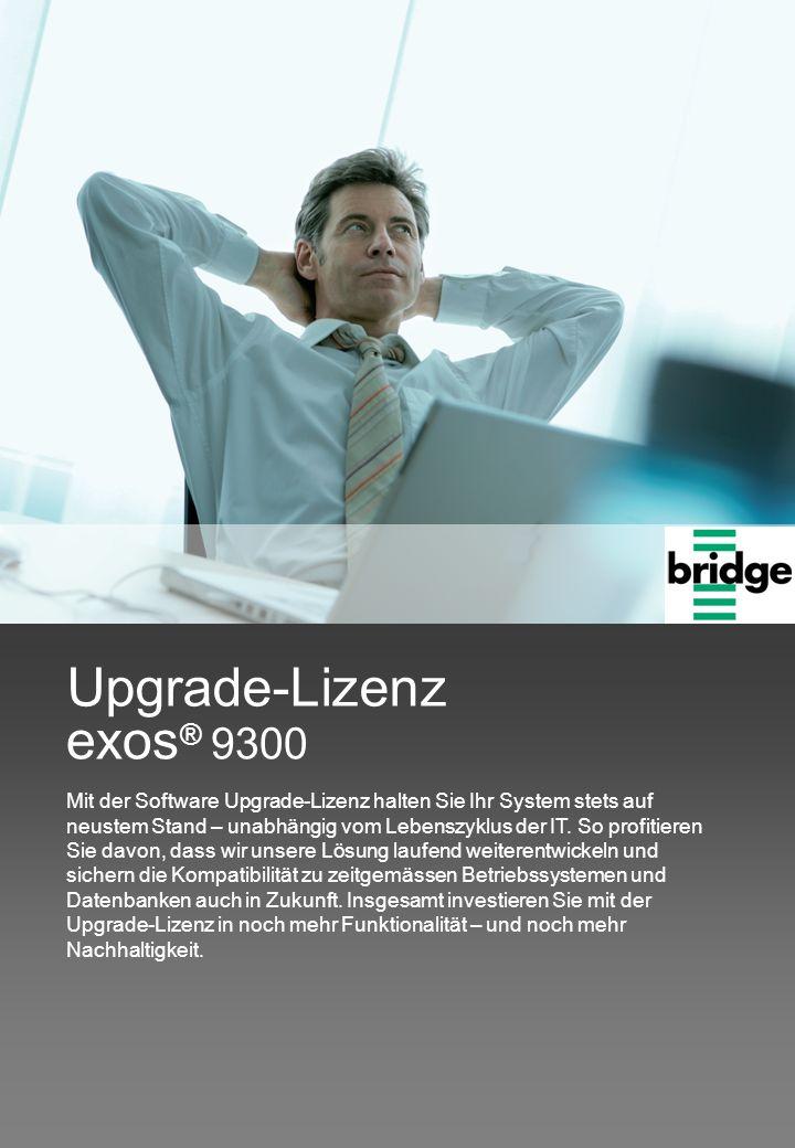 exos® 9300 Upgrade-Lizenz.
