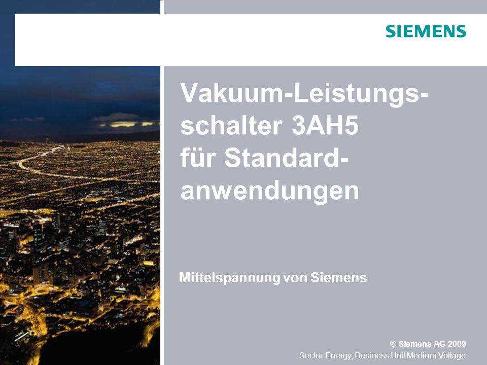 Vakuum-Leistungs-schalter 3AH5 für Standard-anwendungen