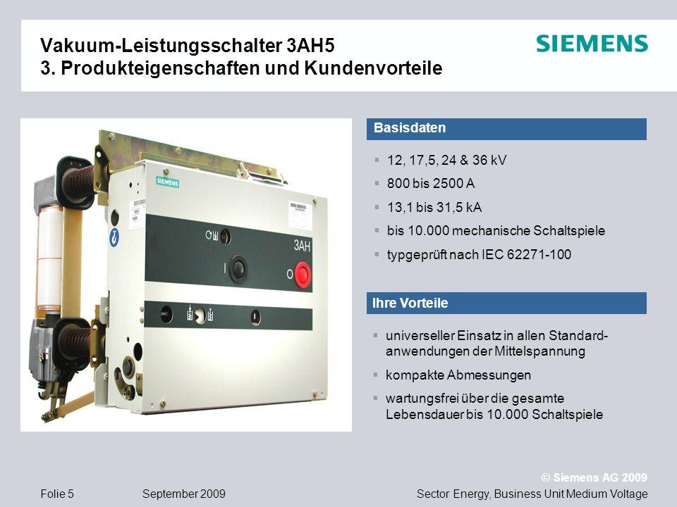 Vakuum-Leistungsschalter 3AH5 3