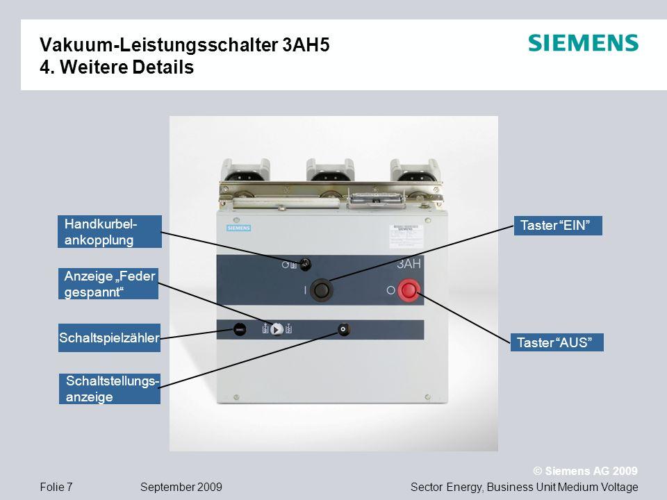 Vakuum-Leistungsschalter 3AH5 4. Weitere Details