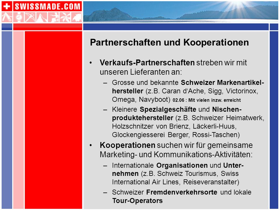 Partnerschaften und Kooperationen