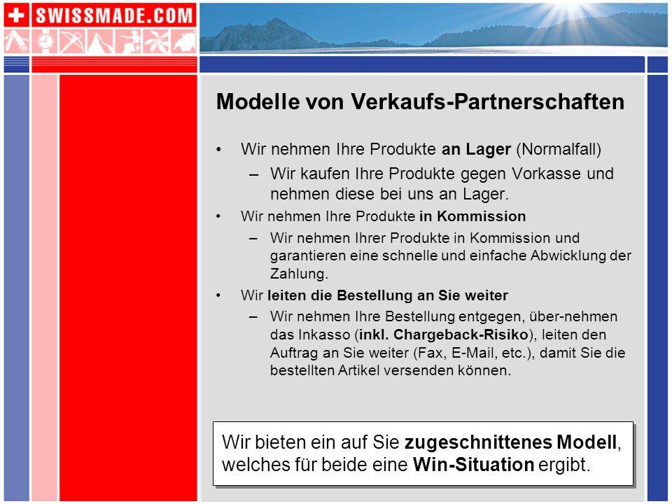 Modelle von Verkaufs-Partnerschaften
