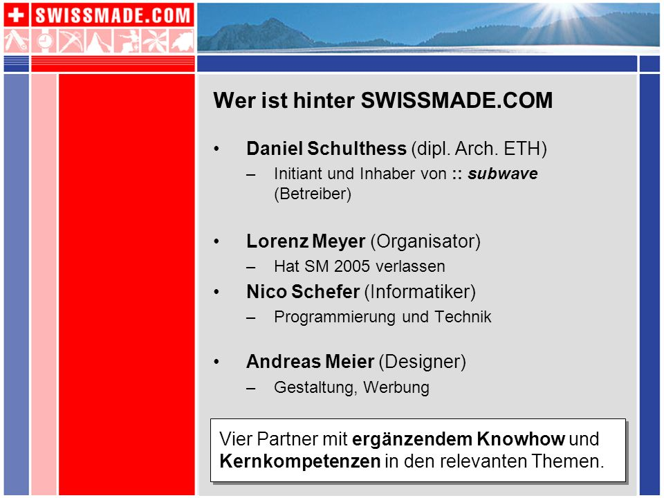 Wer ist hinter SWISSMADE.COM