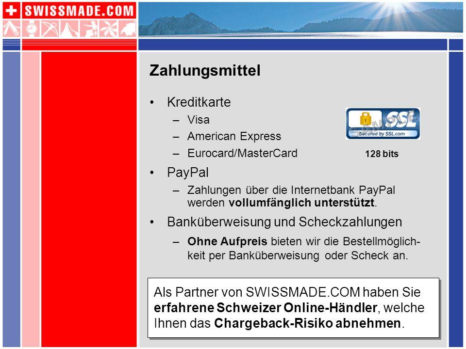 Zahlungsmittel Kreditkarte PayPal Banküberweisung und Scheckzahlungen