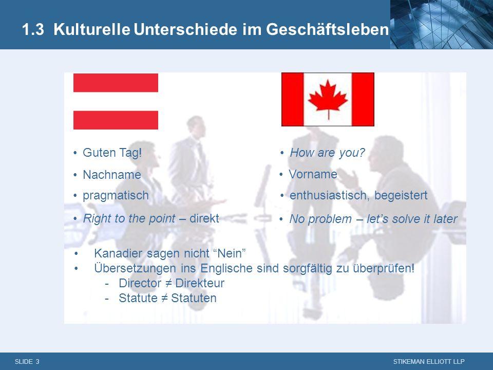 1.3 Kulturelle Unterschiede im Geschäftsleben