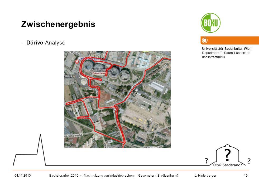 Zwischenergebnis Dérive-Analyse 25.03.2017