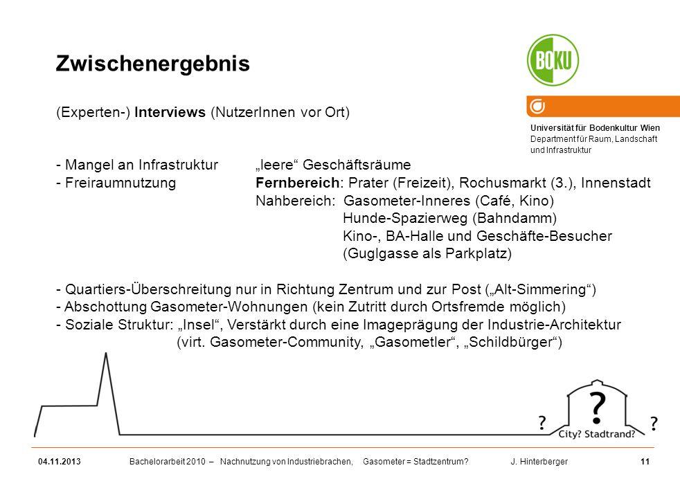 Zwischenergebnis (Experten-) Interviews (NutzerInnen vor Ort)