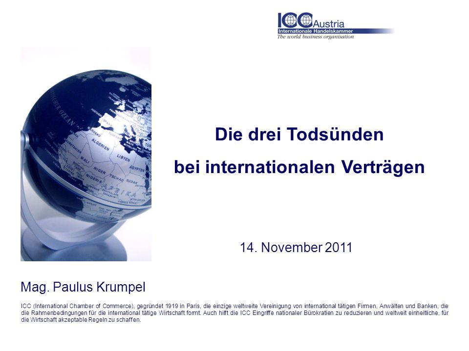 bei internationalen Verträgen
