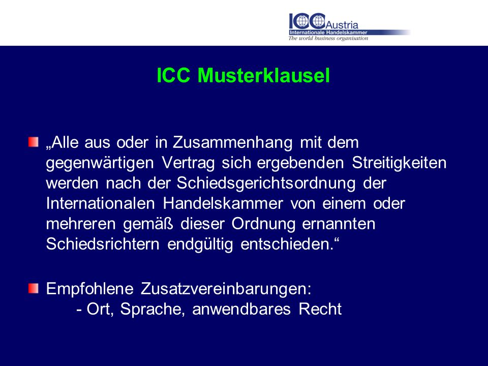 ICC Musterklausel