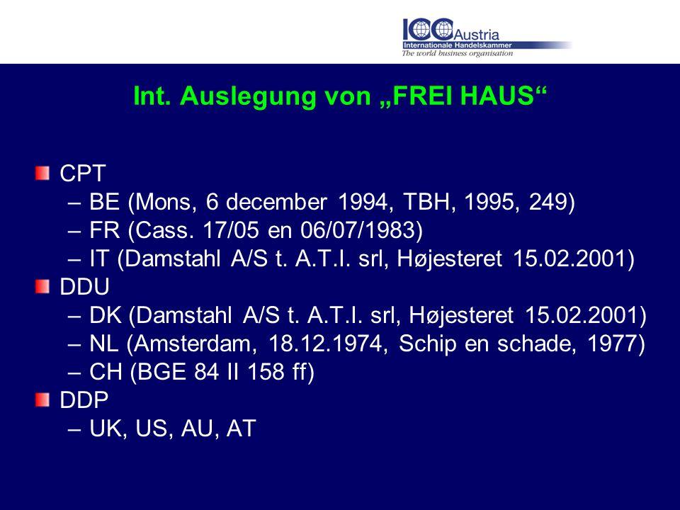 """Int. Auslegung von """"FREI HAUS"""