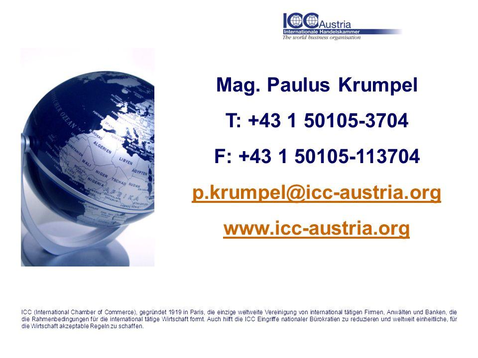 Mag. Paulus Krumpel T: +43 1 50105-3704 F: +43 1 50105-113704