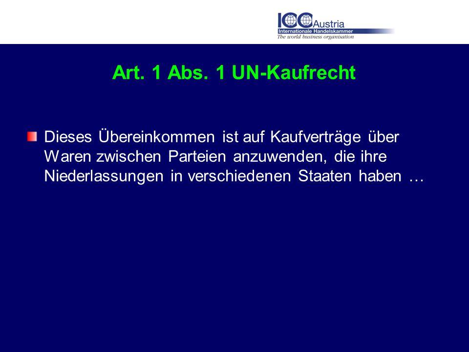 Art. 1 Abs. 1 UN-Kaufrecht