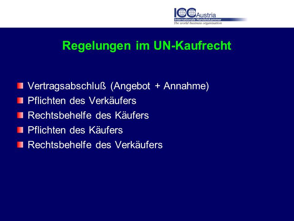 Regelungen im UN-Kaufrecht